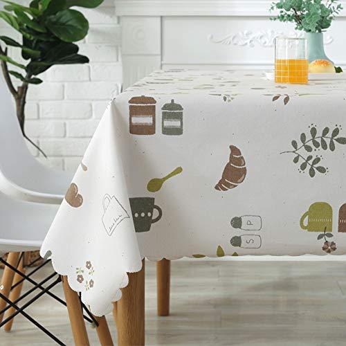 Table cloth impermeabile tovaglia in pvc plastica cucina tovaglia reticolo tovaglia decorazione tovaglia protettiva per buffet tavolo,bar,cena di vacanza-c square120x120cm