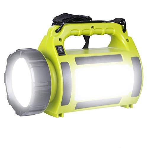 LED Handscheinwerfer, 1000 Lumen Wiederaufladbare Akku Handlampe mit 3600mAh USB Power bank, 10W Dimmbare Taschenlampe inkl. 3 Lichtmodi 2 Helligkeitsstufen, LED Strahler für Notfall Camping