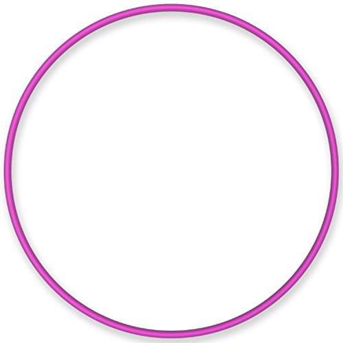 Hula-Hoop-Reifen, Gymnastikreifen stabil aus Aluminium, Farbe: rosa