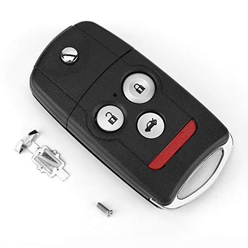 KIMISS Key Fob Case, 3 + 1 Knopf Auto Keyless Remote Flip Schlüsselanhänger Fall Abdeckung Shell Fit Schlüsselanhänger Fall Autoschlüssel Etui (Honda Für Accord Remote-key)