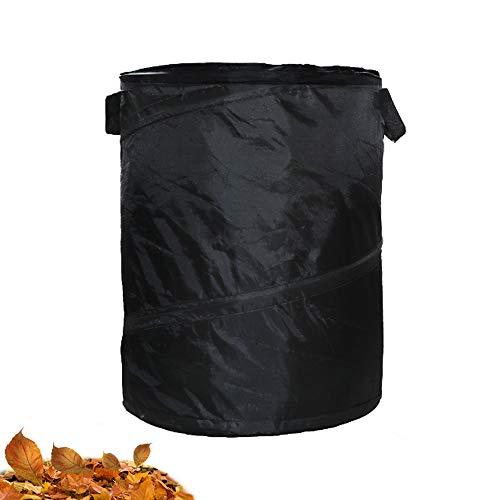 Leegicst Gartensack,grassack Garten,Faltbare Mülleimer Tragbare Falten Oxford Tuch Lagerung Eimer aus robustem Wasserdichtes PP für Camping,Garten Blätter Storage Eimer