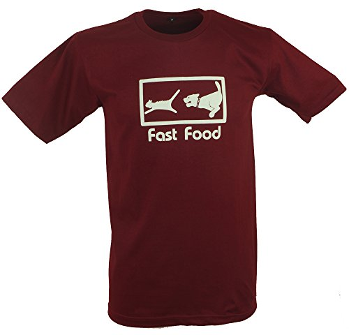 Fun T-Shirt `Fast Food` / Spaß T-Shirts Rot