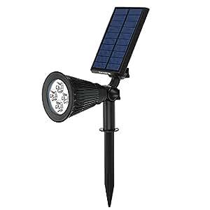 [Versione Nuova] VicTsing Lampada Solare da Esterna 200 Lumen LED Lampadine Luci Impermeabile per Casa/ Giardino/ Cortile/ Albero/ Prato,ecc, Nero