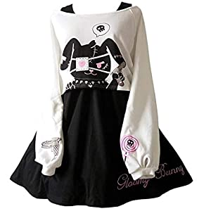 Kawaii Conejo Vestido Estampado 2