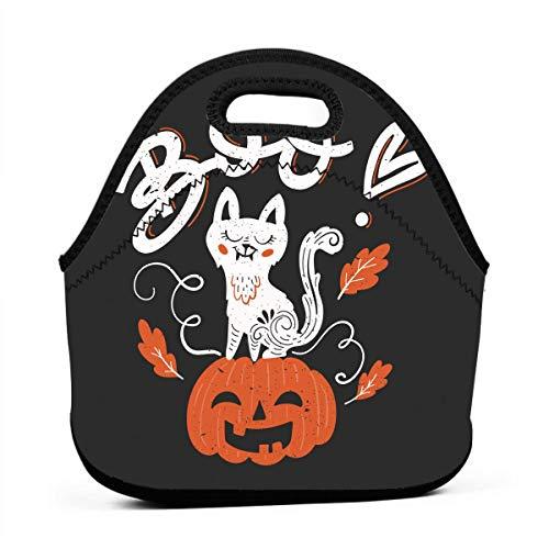 Kinder Lunchtaschen für Mädchen - Boo Halloween Party Günstige Taschen für Frauen 3D Druck Lunchbox Lebensmittelbehälter Picknicktaschen Tragetasche Handtasche
