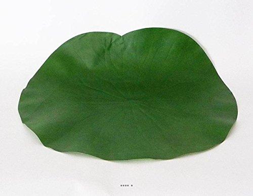 Artificielles - Lotus nenuphar sous assiette vert d 29 cm decoration