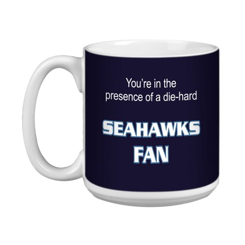 Tree-Free Greetings XM28135 Seahawks Fußball-Fan, Kunstvolle Jumbo-Tasse, 570 ml -