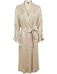 Topshop Gold 80s Satin Long Duster Trench Coat Jacket Outerwear UK 10 / EURO 38 / US 6 - Brand New With Tags
