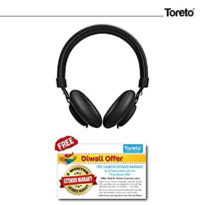 "Toreto""Thunder PRO"" On Ear Bluetooth Headphones with Extra Bass- TOR 208"