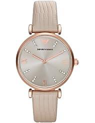 Emporio Armani Damen-Armbanduhr Analog Quarz Leder AR1681