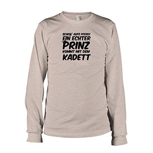 TEXLAB - Ein echter Prinz kommt mit dem Kadett - Langarm T-Shirt Graumeliert