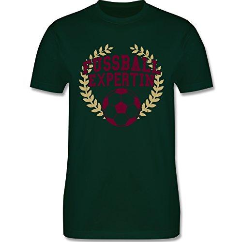 Fußball - Fussball Expertin - Herren Premium T-Shirt Dunkelgrün