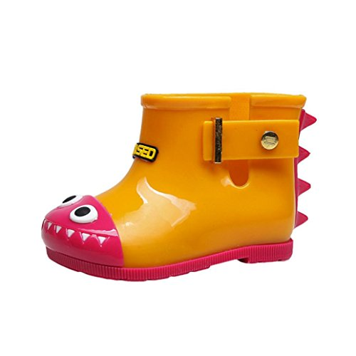 Huhua Baby Wellies, Child Waterproof Rubber Solid Color Rain Boots Kids Children Rain Shoes for 0-7 Years Old