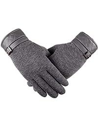Fansport Men's Wool Winter Touchscreen Gloves (YGV5N0367W20TBX41W14Z, Grey)