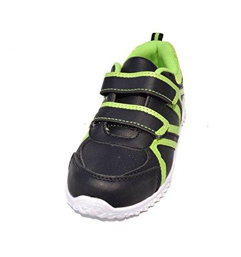 TMY tM373 coque enfant-noir/vert-taille :  25–36 Multicolore - Schwarz/ Grün