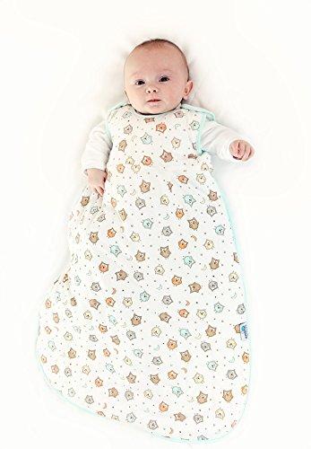Schlummersack Baby Sommerschlafsack 0.5 Tog Simply Eule Neugeborene 56 cm
