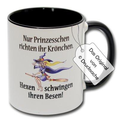 Spruchtasse Hexentasse Funtasse Kaffeebecher Henkelbecher Tasse mit Spruch Teetasse Kaffeetasse Tasse mit Aufdruck Hexe