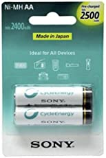 Sony Rechargeable AA 2500 MAH Ni MH Batteries