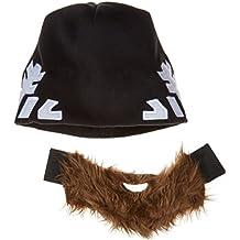 Gorro de barba divertido - Hangover - Para hombres y mujeres – Gorro de esquí – Gorro de snowboard – Disponible en 4 variantes – Talla universal – Color: Negro/Marrón – SNOWFLAKE (Copos de Nieve)