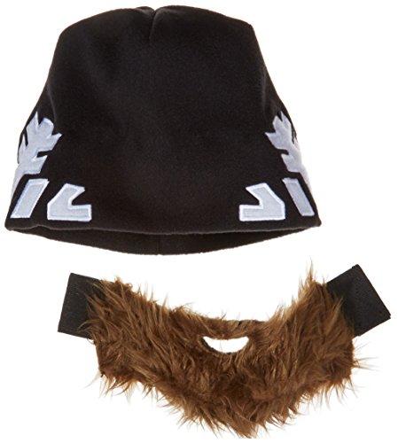 Bart-Mütze (Hangover) - Snowflake Edition - Spaßmütze mit abnehmbaren Bart und Schneeflocken-Muster - Skimütze - Universalgröße