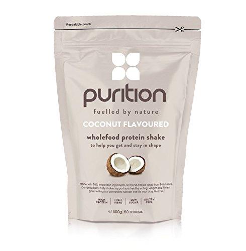 Milk-shake protéiné et diététique à la noix de coco (500 g) idéal pour la perte de poids et la récupération après l'effort - substitut de repas 100 % naturel - smoothie petit déjeuner