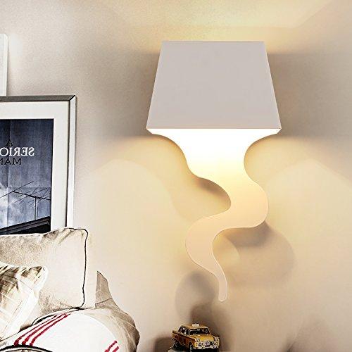 BBSLT Vintage American creativo rurale monotesta parete lampada lampada da comodino camera da letto studio arte nordica del corridoio nel foyer delle luci della navata 200 * 400 * 70 mm , white