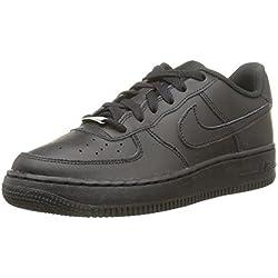 Nike Air Force 1 Gs, Zapatillas Unisex Niños, Negro (Black / Black), 38.5 EU