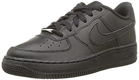 Nike Boys' Air Force 1 (Gs) Basketball sneakers, Black (Black/Black Black), 5 UK