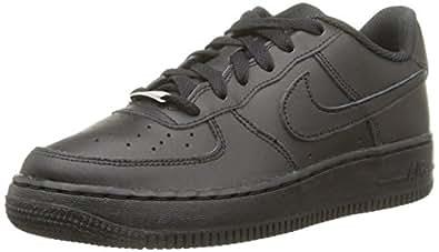 Nike Boys' Air Force 1 (Gs) Basketball sneakers, Black (Black/black/black), 3.5 UK
