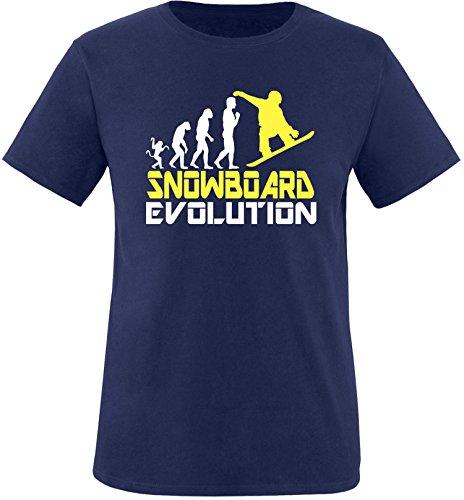 EZYshirt® Snowboard Evolution Herren Rundhals T-Shirt (Hose Evolution Snowboard)
