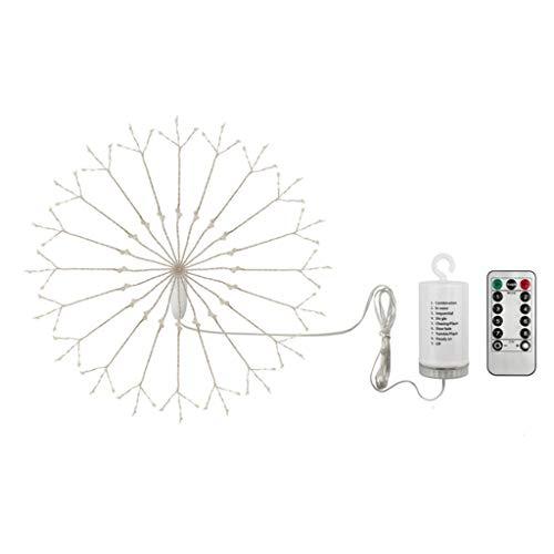 LED Feuerwerk Lichterketten 8 Modes LED Lichterkette Weihnachtslichterkette IP65 wasserdicht mit Fernbedienung (Warmes Weiß + Farbig)