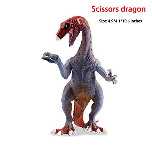 HLDX (4,9 * 4,1 * 10,6) Zoll Kinder Dinosaurier Modell Spielzeug Schere Drachen Serie Jurassic Animal World prähistorische Tier Kinder Geburtstagsgeschenk