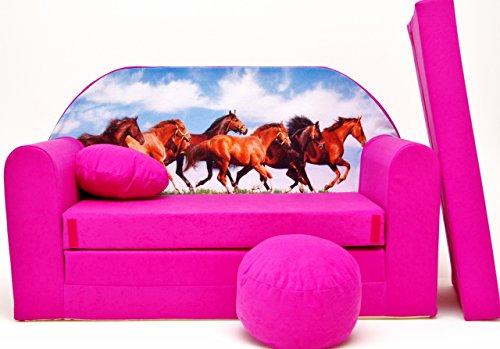 Divano Letto Rosa : Pro cosmo h29 bambini divano letto con pouf poggiapiedi cuscino