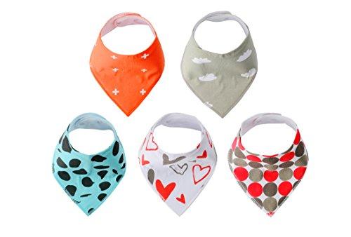 Baberos bandana/Bebé(niño y niña). iNeibo Babero 100% algodón, Triangular, Moderno, Unisexo. Perfecto Bandana Baberos para dentición, saliva