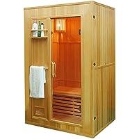 Saunakabine W/ärmekabine Mendler Sauna HWC-D59 Saunaofen 4,5kW Saunasteine Sicherheitsglas 4 Personen 200x175x160cm