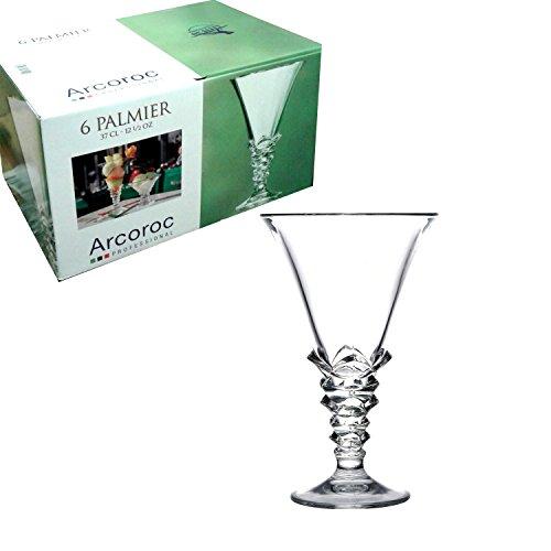 6Stück Gläser Eisbecher Palmier 37cl Arcoroc Schale für Eis Mazedonien Obst Dessert