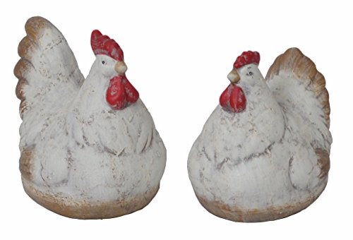 2 Set chiccie Poules Couple – 13 cm – Coq Poule Décoration