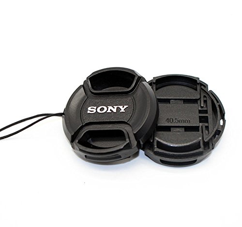 1pièce générique 40,5mm Centre de bouchon avant d'objectif à clipser pour avec corde pour Sony A5000a5100A6000A6300NEX-3N NEX-5R NEX-5T NEX-6avec objectif 16–50mm