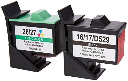 Prestige Cartridge No 16/26 2er Pack Druckerpatronen für Lexmark i3 X 1100 1150 1180 1240 1250 1270 1290 2250 X74 X75 Z13 Z23 Z24 Z25 Z33 Z34 Z515 Z602 Z605 Z640 Compaq IJ650 IJ652 schwarz dreifarbig -