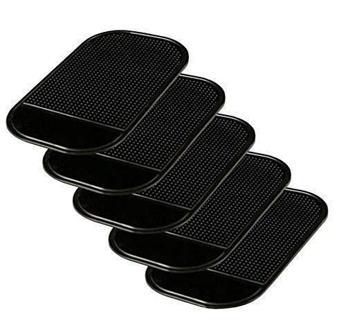 Gwill 5 Pack Schwarz Anti-Rutsch-Matte Rutschfeste Armaturenbrett Sticky Pad für Handy-Schlüssel