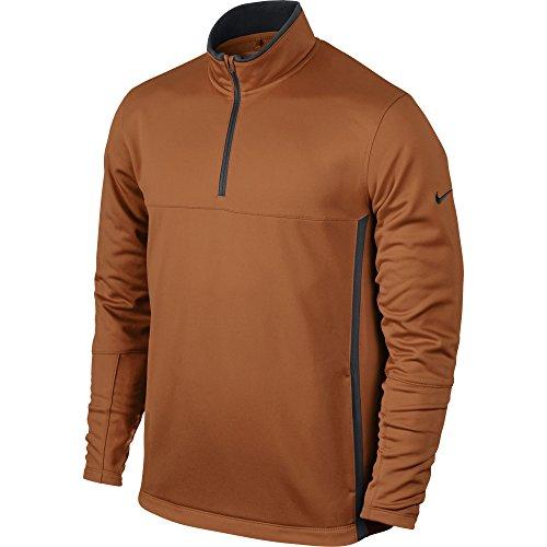 Nike Langarm Herren Pullover 1/2-zip-black/Wolf Grau/Schwarz/Wolf, Herren, Desert Orange/Dark Grey (Golf Jacke Zip)