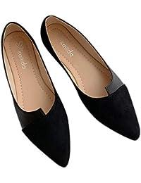 d7f0bddb5a94af erthome Frauen Splice Farbe Wohnungen Mode Spitz Ballerina Ballett Flachen  Slip On Schuhe