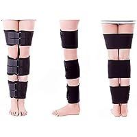 Negro Adulto Leggings ajustables con O-Type X-formó las piernas para corregir las piernas y las piernas congregadas dentro y fuera de las piernas de ocho patas , l