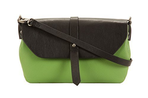 lime-green-and-brown-two-colour-small-cross-body-bag-by-hadaki