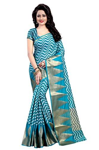 Glance Designs Womens Cotton Silk Sarees (Rama) Sarees For Women Party Wear Offer Designer Sarees