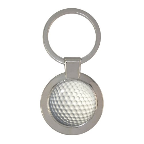 Golf Ball Design geschoben Circular Schlüsselanhänger