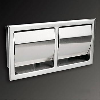 agute toilettenpapierhalter aus hochwertigem edelstahl matt unterputz zum einbau. Black Bedroom Furniture Sets. Home Design Ideas