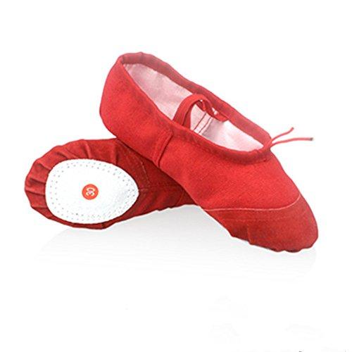Kinder Tanzschuhe weichen Ballettschuhe im Sommer und Herbst Erwachsene üben Yoga Schuhe tanzen Schuhe Katze Kralle Schuh Red