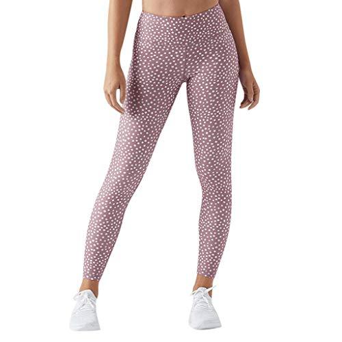 Lunule Mujeres Pantalones Deportivos de Yoga con Estampado de Puntos s