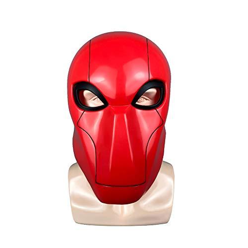 Story of life Halloween PVC Film Maske, Karnevals Anzieh Thema Maskerade-Partei, Halloween Zombie Teufel Rote Maske, Kopfbedeckung